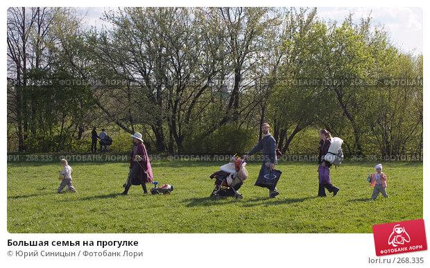 Большая семья на прогулке, фото № 268335, снято 27 апреля 2008 г. (c) Юрий Синицын / Фотобанк Лори