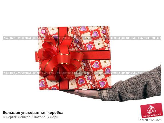 Большая упакованная коробка, фото № 126823, снято 25 ноября 2007 г. (c) Сергей Лешков / Фотобанк Лори