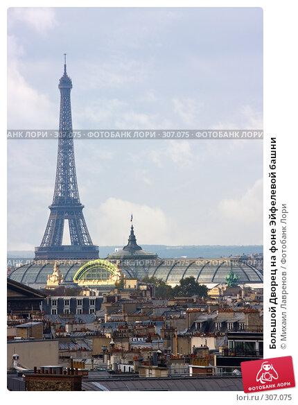 Большой Дворец на фоне Эйфелевой башни, фото № 307075, снято 13 октября 2007 г. (c) Михаил Лавренов / Фотобанк Лори