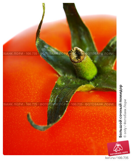 Большой сочный помидор, фото № 100735, снято 24 февраля 2007 г. (c) only / Фотобанк Лори