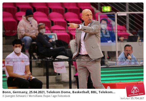 Bonn, Germany, 25.04.2021, Telekom Dome, Basketball, BBL, Telekom... Редакционное фото, фотограф Juergen Schwarz / age Fotostock / Фотобанк Лори