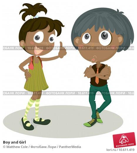 Boy and Girl. Стоковая иллюстрация, иллюстратор Matthew Cole / PantherMedia / Фотобанк Лори