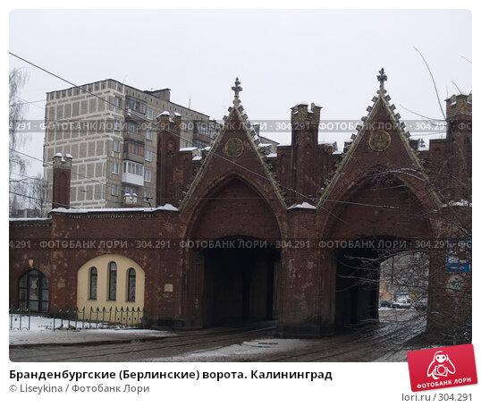 Бранденбургские (Берлинские) ворота. Калининград, фото № 304291, снято 1 января 2008 г. (c) Liseykina / Фотобанк Лори