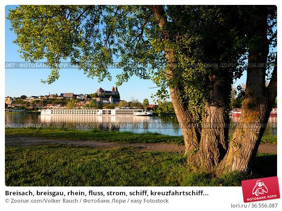 Breisach, breisgau, rhein, fluss, strom, schiff, kreuzfahrtschiff... Стоковое фото, фотограф Zoonar.com/Volker Rauch / easy Fotostock / Фотобанк Лори