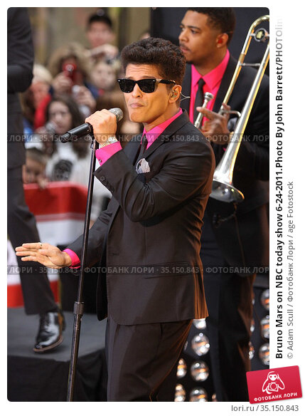 Bruno Mars on NBC today show 6-24-2011.Photo By John Barrett/PHOTOlink... Редакционное фото, фотограф Adam Scull / age Fotostock / Фотобанк Лори