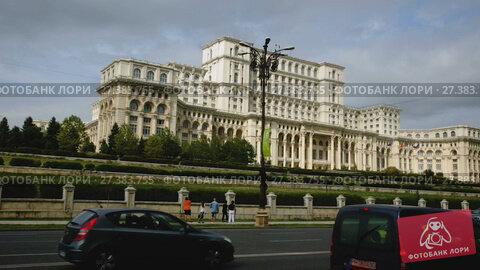 Купить «BUCHAREST, ROMANIA - SEPTEMBER, 19, 2017: View of Palace of Parliament in Bucharest, Romania», видеоролик № 27383755, снято 19 сентября 2017 г. (c) Яков Филимонов / Фотобанк Лори