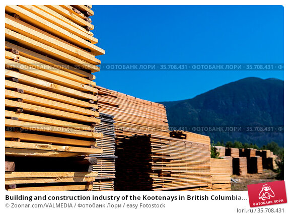 Building and construction industry of the Kootenays in British Columbia... Стоковое фото, фотограф Zoonar.com/VALMEDIA / easy Fotostock / Фотобанк Лори