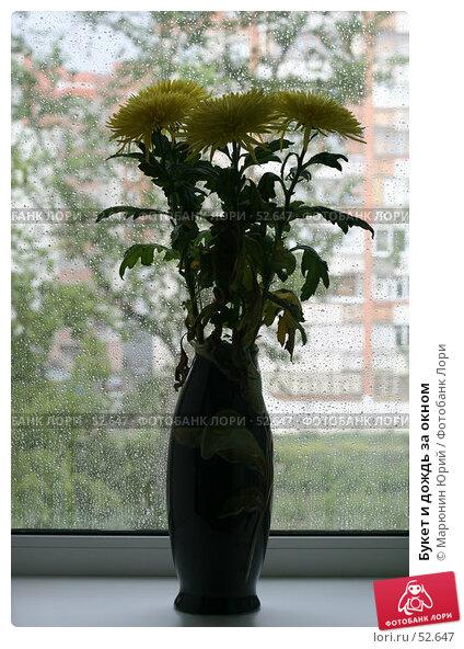 Букет и дождь за окном, фото № 52647, снято 14 июня 2007 г. (c) Марюнин Юрий / Фотобанк Лори