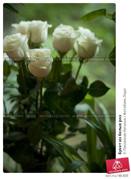 Букет из белых роз, фото № 48435, снято 25 мая 2007 г. (c) Лисовская Наталья / Фотобанк Лори