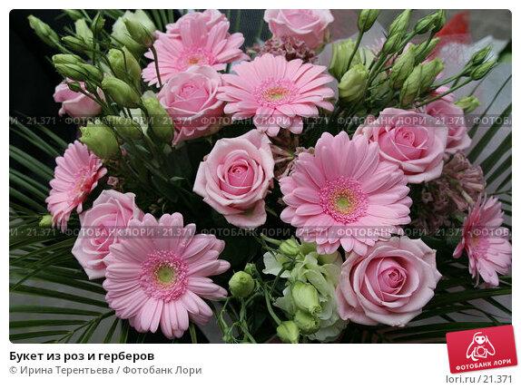 Букет из роз и герберов, эксклюзивное фото № 21371, снято 9 июня 2006 г. (c) Ирина Терентьева / Фотобанк Лори