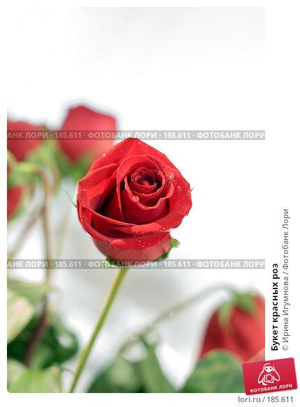 Букет красных роз, фото № 185611, снято 4 января 2008 г. (c) Ирина Игумнова / Фотобанк Лори