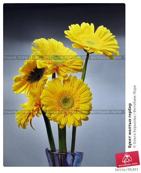 Купить «Букет желтых гербер», фото № 55811, снято 26 января 2007 г. (c) Ольга Хорькова / Фотобанк Лори