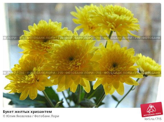 Букет желтых хризантем, фото № 715, снято 29 октября 2005 г. (c) Юлия Яковлева / Фотобанк Лори