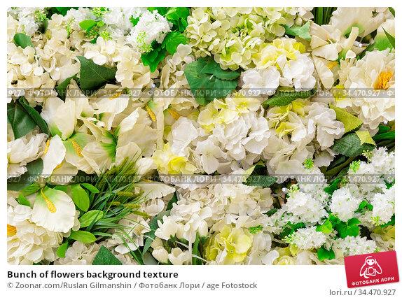Bunch of flowers background texture. Стоковое фото, фотограф Zoonar.com/Ruslan Gilmanshin / age Fotostock / Фотобанк Лори