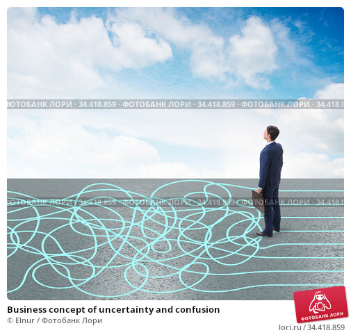 Business concept of uncertainty and confusion. Стоковое фото, фотограф Elnur / Фотобанк Лори