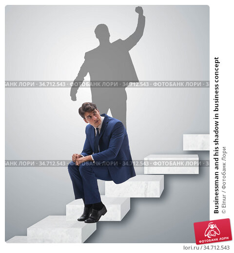 Businessman and his shadow in business concept. Стоковое фото, фотограф Elnur / Фотобанк Лори