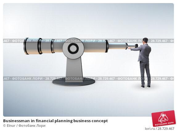 Купить «Businessman in financial planning business concept», фото № 28729467, снято 25 апреля 2019 г. (c) Elnur / Фотобанк Лори
