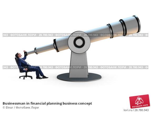Купить «Businessman in financial planning business concept», фото № 28780943, снято 25 марта 2019 г. (c) Elnur / Фотобанк Лори