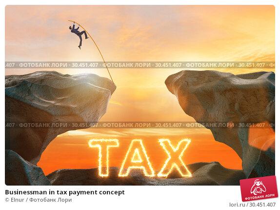 Businessman in tax payment concept. Стоковое фото, фотограф Elnur / Фотобанк Лори