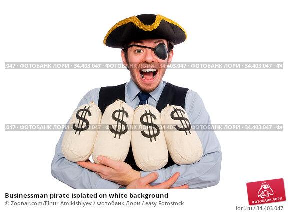 Businessman pirate isolated on white background. Стоковое фото, фотограф Zoonar.com/Elnur Amikishiyev / easy Fotostock / Фотобанк Лори