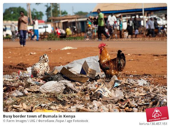 Busy border town of Bumala in Kenya. Стоковое фото, фотограф Farm Images \ UIG / age Fotostock / Фотобанк Лори