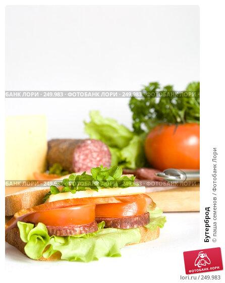 Купить «Бутерброд», фото № 249983, снято 30 ноября 2007 г. (c) паша семенов / Фотобанк Лори