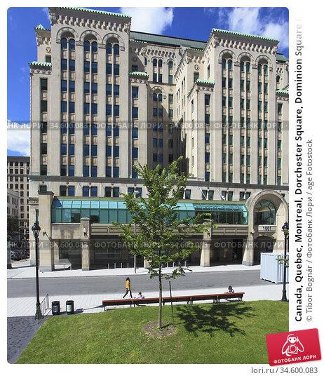 Canada, Quebec, Montreal, Dorchester Square, Dominion Square Building... Стоковое фото, фотограф Tibor Bognár / age Fotostock / Фотобанк Лори