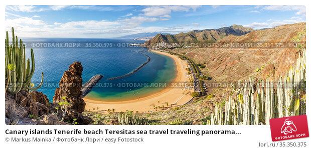 Canary islands Tenerife beach Teresitas sea travel traveling panorama... Стоковое фото, фотограф Markus Mainka / easy Fotostock / Фотобанк Лори