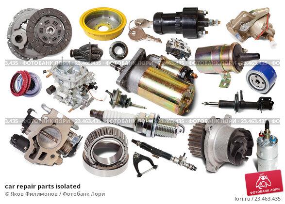 Купить «car repair parts isolated», фото № 23463435, снято 16 февраля 2019 г. (c) Яков Филимонов / Фотобанк Лори