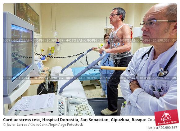 Купить «Cardiac stress test, Hospital Donostia, San Sebastian, Gipuzkoa, Basque Country, Spain», фото № 20990367, снято 21 апреля 2015 г. (c) age Fotostock / Фотобанк Лори