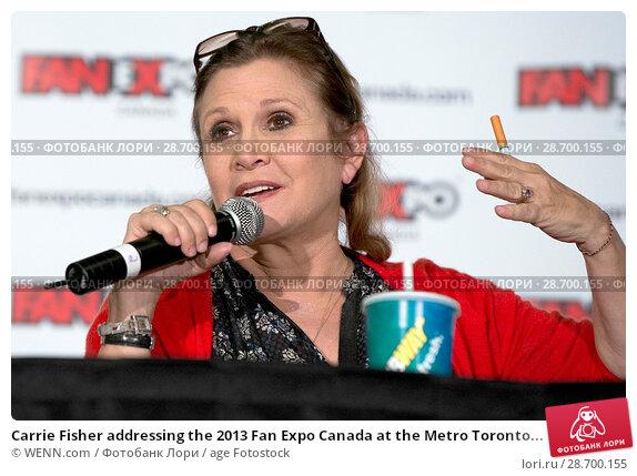 Купить «Carrie Fisher addressing the 2013 Fan Expo Canada at the Metro Toronto Convention Centre in Toronto, Canada. Featuring: Carrie Fisher Where: Toronto, Ontario, Canada When: 25 Aug 2013 Credit: WENN.com», фото № 28700155, снято 25 августа 2013 г. (c) age Fotostock / Фотобанк Лори