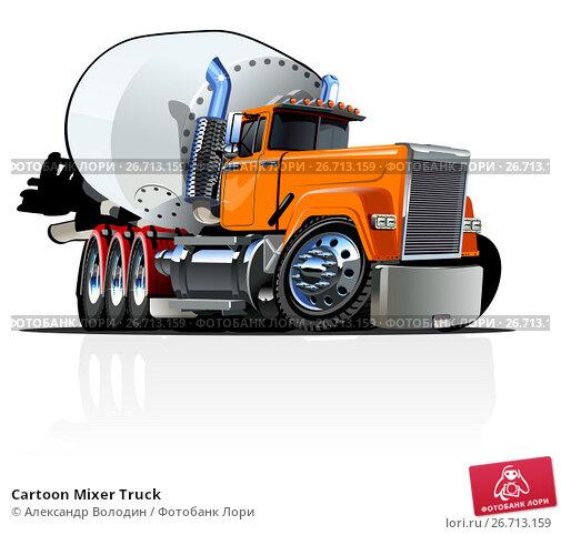 Купить «Cartoon Mixer Truck», иллюстрация № 26713159 (c) Александр Володин / Фотобанк Лори