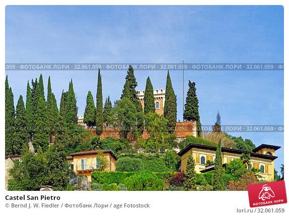 Castel San Pietro. Стоковое фото, фотограф Bernd J. W. Fiedler / age Fotostock / Фотобанк Лори