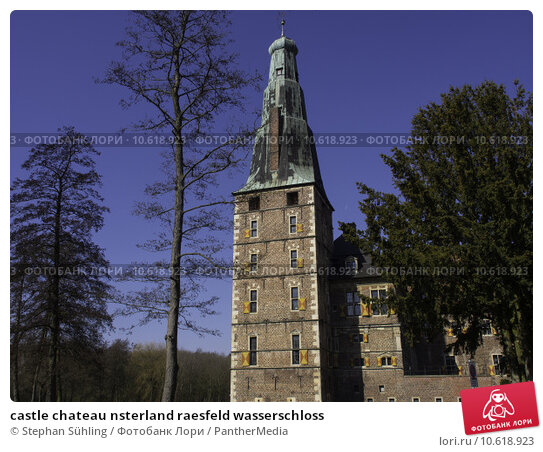castle chateau nsterland raesfeld wasserschloss. Стоковое фото, фотограф Stephan Sühling / PantherMedia / Фотобанк Лори