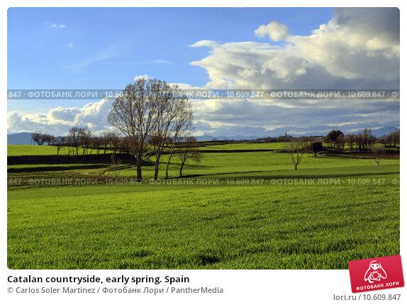 Catalan countryside, early spring. Spain. Стоковое фото, фотограф Carlos Soler Martinez / PantherMedia / Фотобанк Лори