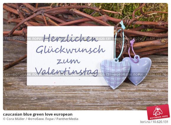 caucasian blue green love european. Стоковое фото, фотограф Cora Müller / PantherMedia / Фотобанк Лори