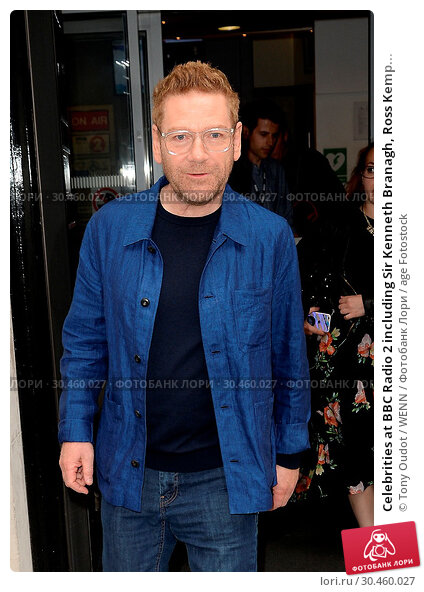 Celebrities at BBC Radio 2 including Sir Kenneth Branagh, Ross Kemp... (2017 год). Редакционное фото, фотограф Tony Oudot / WENN / age Fotostock / Фотобанк Лори