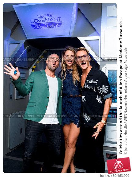 Celebrities attend the launch of Alien Escape at Madame Tussauds ... (2017 год). Редакционное фото, фотограф Jonathan Hordle / WENN.com / age Fotostock / Фотобанк Лори