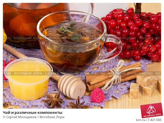 Купить «Чай и различные компоненты», фото № 7421583, снято 25 октября 2013 г. (c) Сергей Молодиков / Фотобанк Лори