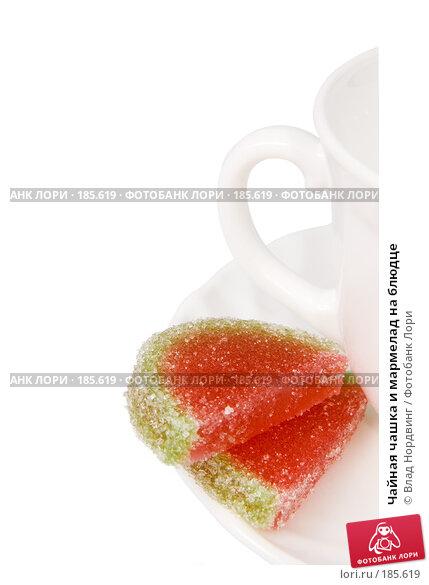 Чайная чашка и мармелад на блюдце, фото № 185619, снято 24 января 2008 г. (c) Влад Нордвинг / Фотобанк Лори