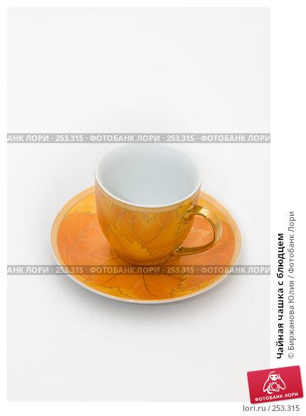 Купить «Чайная чашка с блюдцем», фото № 253315, снято 15 апреля 2008 г. (c) Биржанова Юлия / Фотобанк Лори