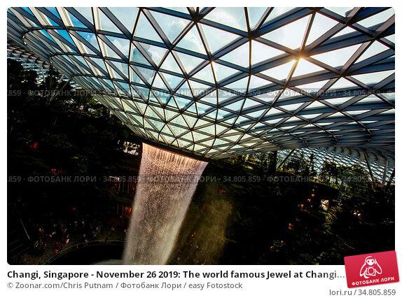 Changi, Singapore - November 26 2019: The world famous Jewel at Changi... Стоковое фото, фотограф Zoonar.com/Chris Putnam / easy Fotostock / Фотобанк Лори