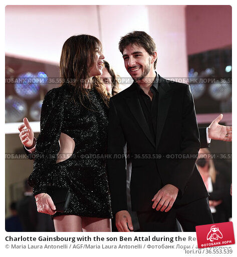 Charlotte Gainsbourg with the son Ben Attal during the Red carpet... Редакционное фото, фотограф Maria Laura Antonelli / AGF/Maria Laura Antonelli / age Fotostock / Фотобанк Лори