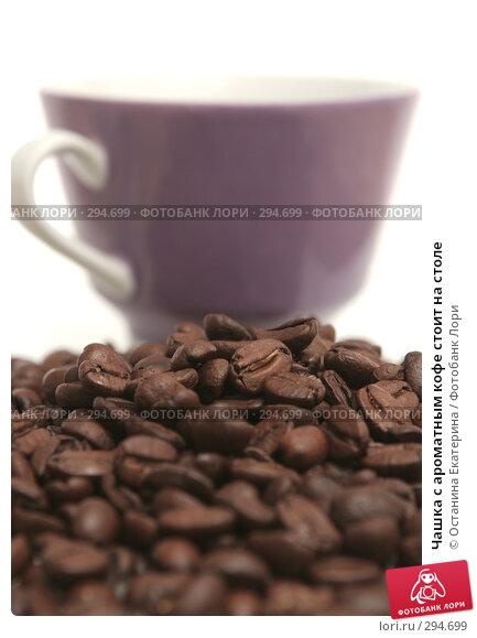 Чашка с ароматным кофе стоит на столе, фото № 294699, снято 16 ноября 2007 г. (c) Останина Екатерина / Фотобанк Лори