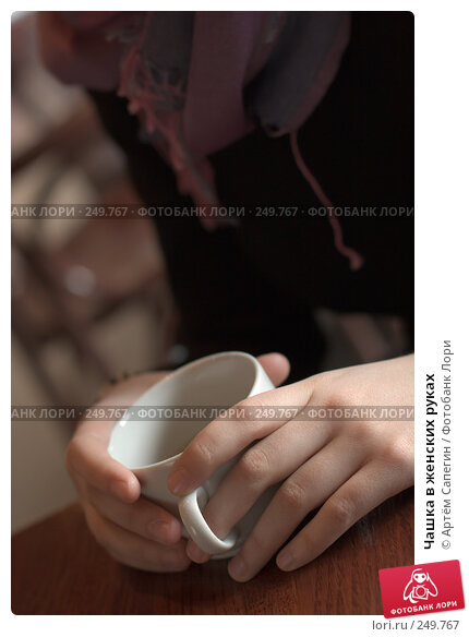 Чашка в женских руках, фото № 249767, снято 8 марта 2007 г. (c) Артём Сапегин / Фотобанк Лори