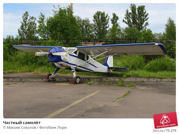 Купить «Частный самолёт», фото № 75279, снято 11 июня 2007 г. (c) Максим Соколов / Фотобанк Лори