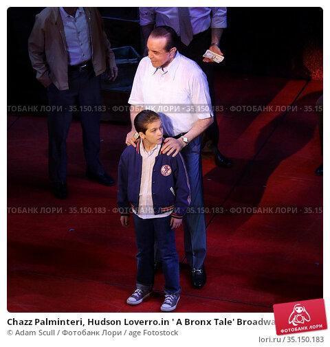 Chazz Palminteri, Hudson Loverro.in ' A Bronx Tale' Broadway play... (2018 год). Редакционное фото, фотограф Adam Scull / age Fotostock / Фотобанк Лори