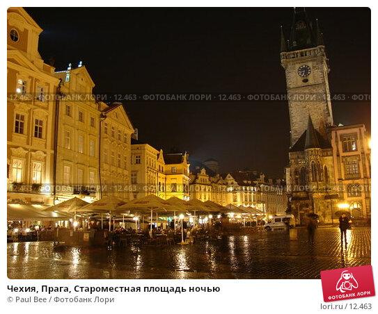 Чехия, Прага, Староместная площадь ночью, фото № 12463, снято 10 февраля 2006 г. (c) Paul Bee / Фотобанк Лори