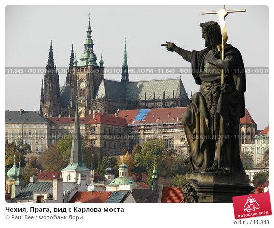 Чехия, Прага, вид с Карлова моста, фото № 11843, снято 10 февраля 2006 г. (c) Paul Bee / Фотобанк Лори