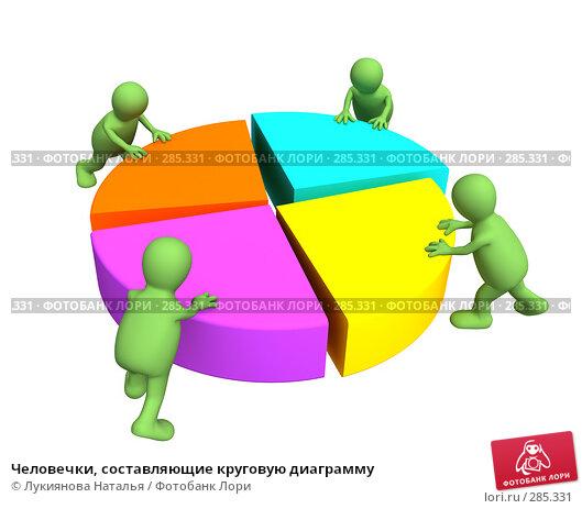 Человечки, составляющие круговую диаграмму, иллюстрация № 285331 (c) Лукиянова Наталья / Фотобанк Лори
